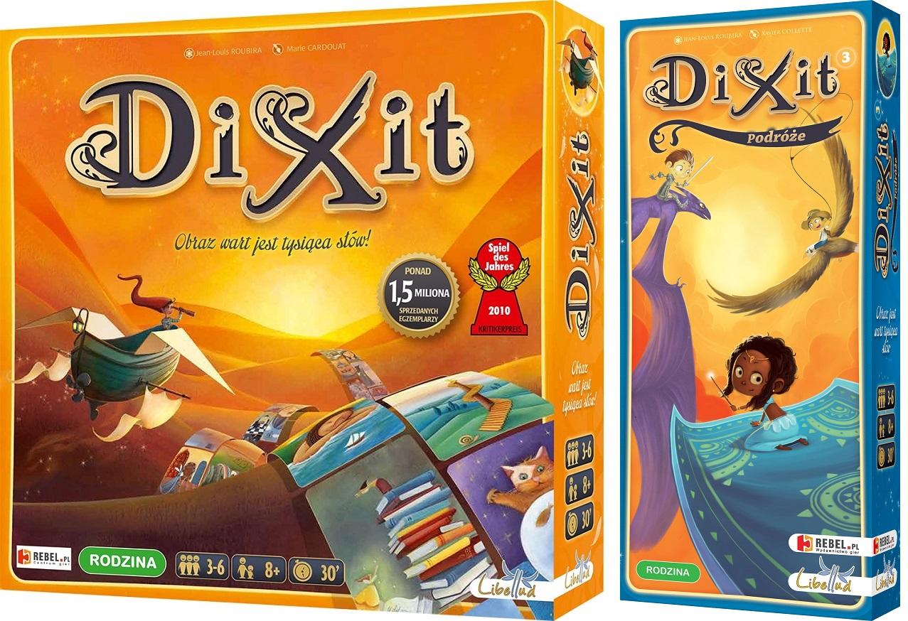 DIXIT + DIXIT 3 PODRÓŻE ZESTAW